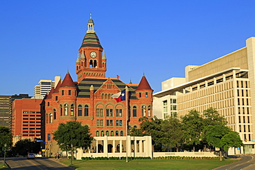 Old Red Museum, Dealey Plaza, Dallas, Texas, United States of America, North America