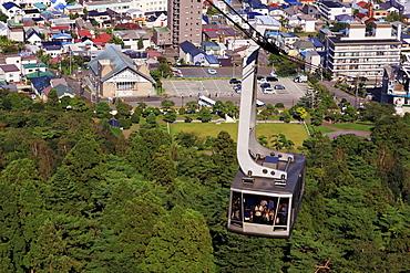 Ropeway, Hakodate City, Hokkaido Prefecture, Japan, Asia