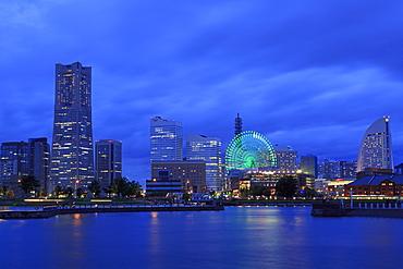 Yokohama skyline, Honshu Island, Japan, Asia