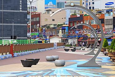 Waterfront Promenade, Nampo District, Busan, South Korea, Asia