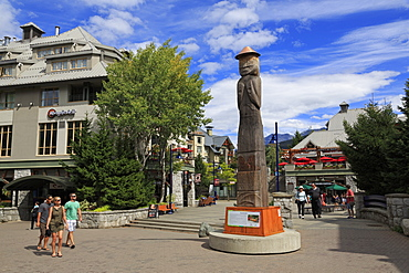 Welcome Figure, Whistler Village, British Columbia, Canada, North America