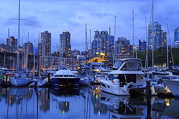 Marina, Granville Island, Vancouver, British Columbia, Canada, North America