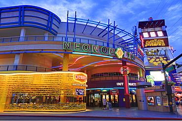 Neonopolis, Fremont Street, Las Vegas, Nevada, United States of America, North America