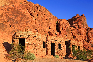 The Cabins, Valley of Fire State Park, Overton, Nevada, United States of America, North America