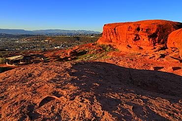 Rock formations in Pioneer Park, St. George, Utah, United States of America, North America