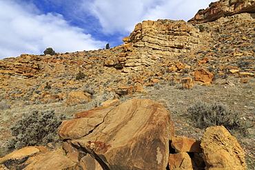 Parowan Gap Dinosaur Tracks and Remains, Iron County, Utah, United States of America, North America