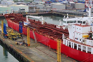 Oil tanker, Dublin Port, County Dublin, Republic of Ireland, Europe