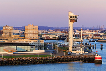 Port Control Tower, Le Havre, Normandy, France, Europe