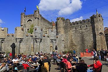 Gravensteen Castle, Ghent, East Flanders, Belgium, Europe