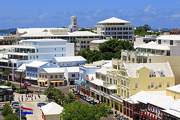 Skyline, Hamilton City, Pembroke Parish, Bermuda, Atlantic, Central America
