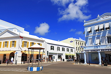 Front Street, Hamilton City, Pembroke Parish, Bermuda, Atlantic, Central America