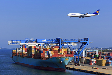 Container Port, Boston, Massachusettes, New England, United States of America, North America
