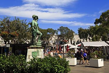 Defence Force Monument, Casemates Square, Gibraltar, United Kingdom, Europe