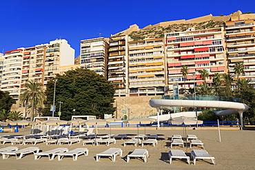 Postiguet Beach, Alicante City, Costa Blanca, Spain, Europe