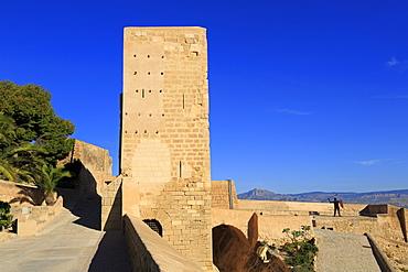 Santa Caterina Tower, Santa Barbara Castle, Alicante City, Spain, Europe