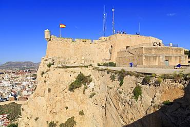 Santa Barbara Castle, Alicante, Spain, Europe