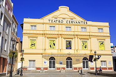 Cervantes Theatre, Malaga, Andalusia, Spain, Europe
