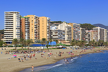 Malagueta Beach, Malaga City, Andalusia, Spain, Europe
