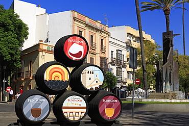 Sherry barrels, Jerez de la Frontera, Andalusia, Spain, Europe