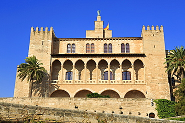 Palacio de la Almudaina, Palma De Mallorca, Majorca, Balearic Islands, Spain, Mediterranean, Europe