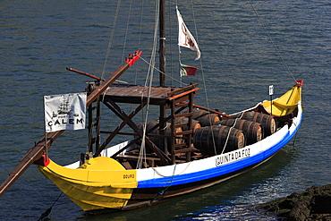 Traditional Barcos Rabelos boat, Porto City, Portugal, Europe