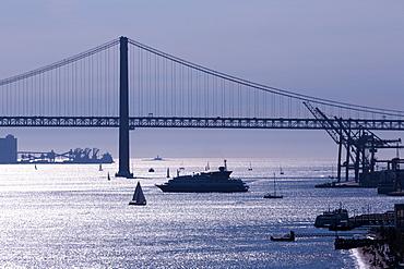 25th April Bridge, Lisbon, Portugal, Europe