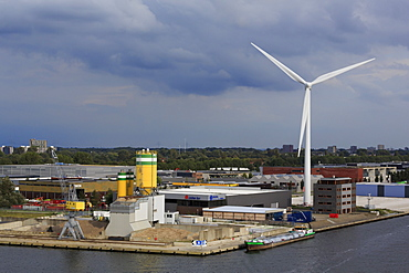Wind Turbine, North Sea Canal, Amsterdam, Netherlands, Europe