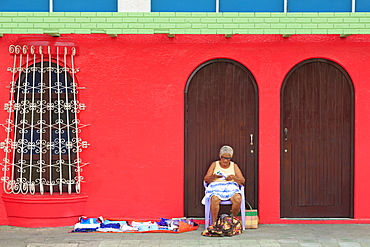 Street vendor, Corinto City, Chinandega Province, Nicaragua, Central America