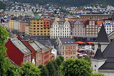 Old wooden houses, Bergen City, Hordaland County, Norway, Scandinavia, Europe