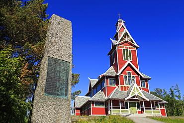 Buksnes Stave Church, Gravdal Village, Lofoten Islands, Nordland County, Arctic, Norway, Scandinavia, Europe