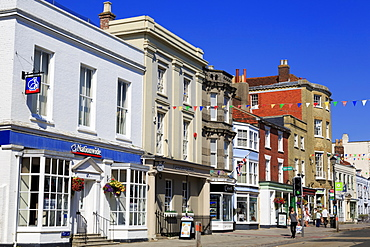 High Street, Lymington Town, Hampshire, England, United Kingdom, Europe