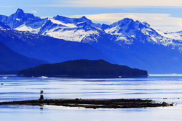 Wood Spit Light, Endicott Arm, Holkham Bay, Juneau, Alaska, United States of America, North America