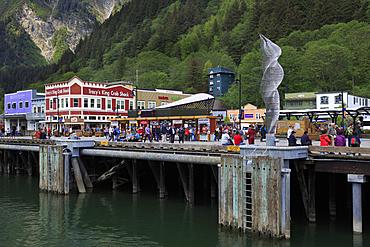 Cruise ship dock, Juneau, Alaska, United States of America, North America