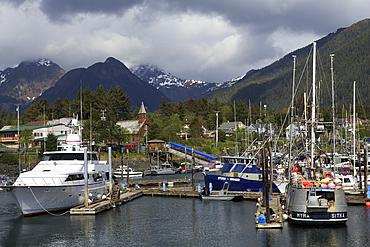 Small Boat Marina, Sitka, Alaska, United States of America, North America