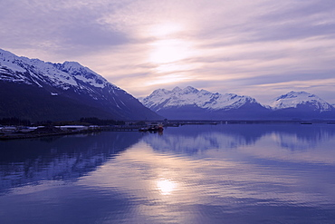 Sunrise, Valdez, Prince William Sound, Alaska, United States of America, North America