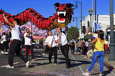 Golden Dragon Parade, Chinatown, Los Angeles, California, United States of America, North America