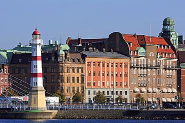 Malmo Harbor Lighthouse, Malmo, Skane County, Sweden, Scandinavia, Europe