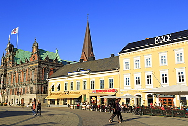 Town Hall in Stortorget Square, Old Town, Malmo, Skane County, Sweden, Scandinavia, Europe