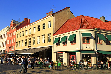 Restaurants in Lilla Square, Old Town, Malmo, Skane County, Sweden, Scandinavia, Europe