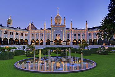 Nimb building, Tivoli Gardens, Copenhagen, Zealand, Denmark, Scandinavia, Europe