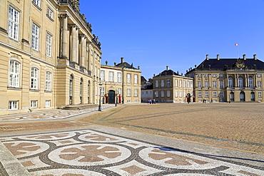 Amalienborg Palace, Copenhagen, Zealand, Denmark, Scandinavia, Europe