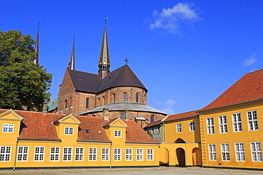 Roskilde Palace and Cathedral, Roskilde, Zealand, Denmark, Scandinavia, Europe