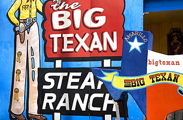 Big Texan Steak Ranch, Historic Route 66, Amarillo, Texas, United States of America, North America