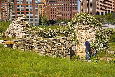 Irish Hunger Memorial, Battery City, Lower Manhattan, New York City, New York, United States of America, North America