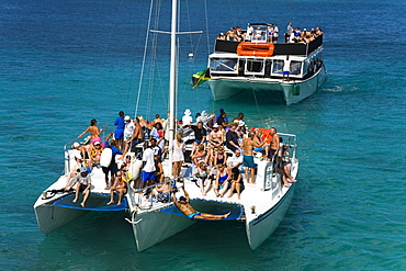 Boats in Montego Bay, Jamaica, West Indies, Caribbean, Central America
