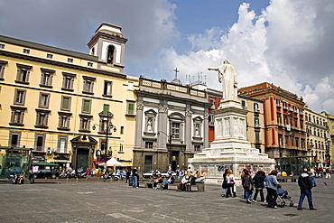 Piazza Dante, Naples, Campania, Italy, Europe
