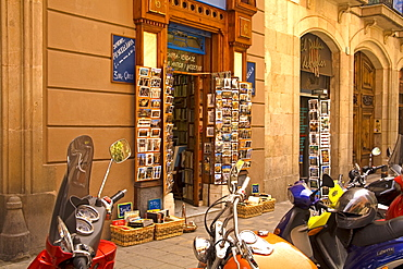 Book store, La Ribera district, Barcelona, Catalonia, Spain, Europe