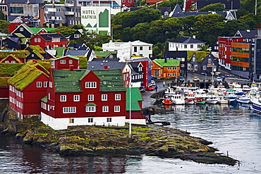 Historic Tinganes district, City of Torshavn, Faroe Islands, Kingdom of Denmark, Europe