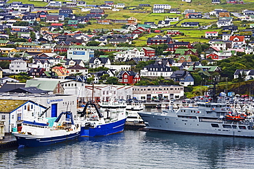 Commercial docks, Port of Torshavn, Faroe Islands, Kingdom of Denmark, Europe