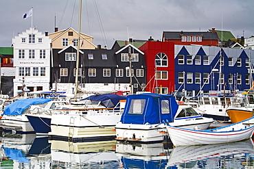 Small boat harbor, Port of Torshavn, Faroe Islands, Kingdom of Denmark, Europe